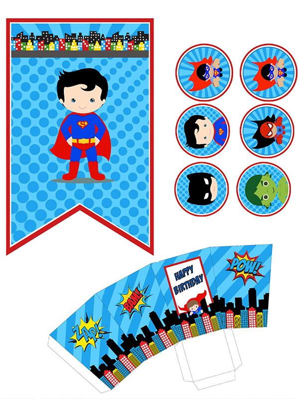 Festa a tema supereroi party bag