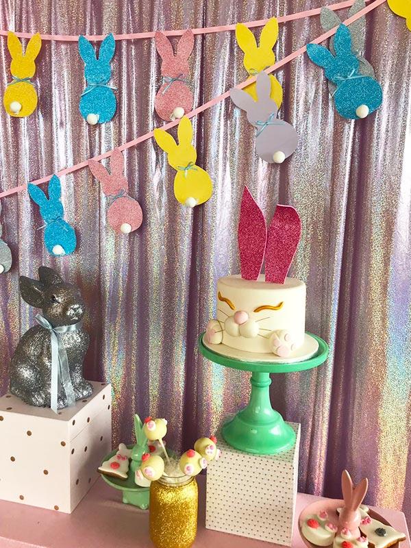 Festa a tema Glitter Easter Party Bag.