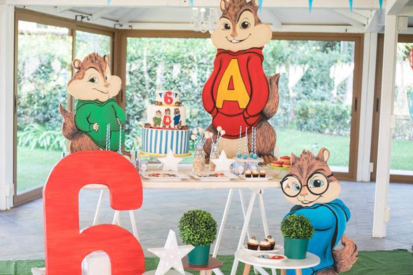 Una scatenata festa a tema Alvin Superstar.