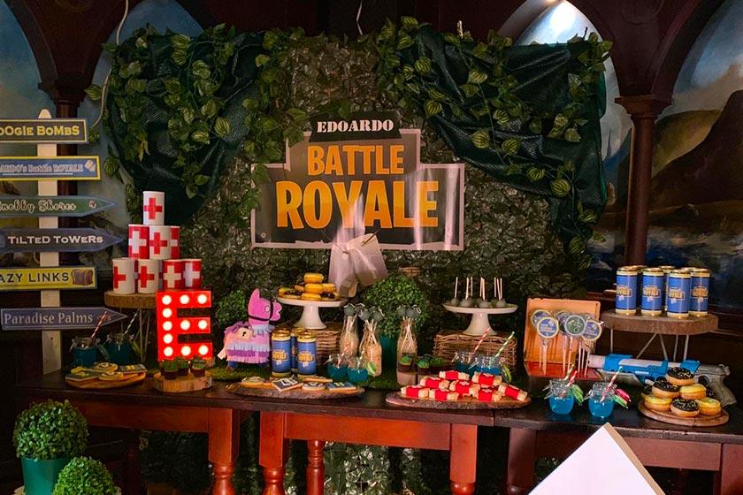 La festa a tema Fortnite: dedicata a tutti i bambini appassionati del celebre videogioco.