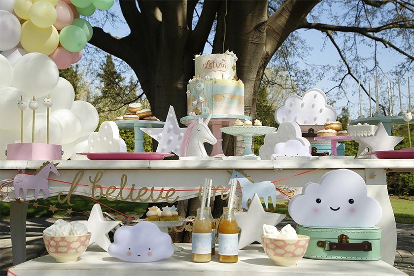 La mia festa a tema unicorni da favola.