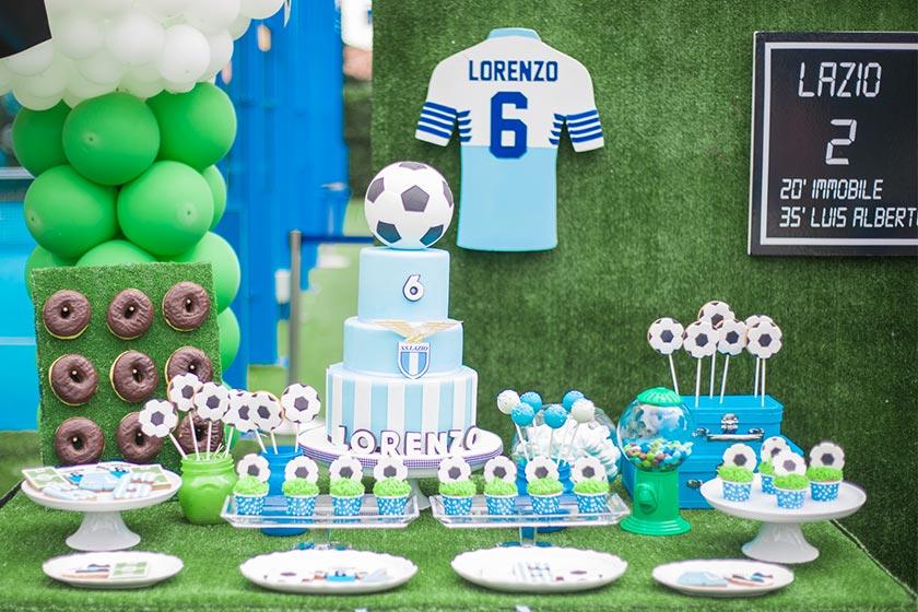 Una festa a tema calcio: la più amata dai maschietti.
