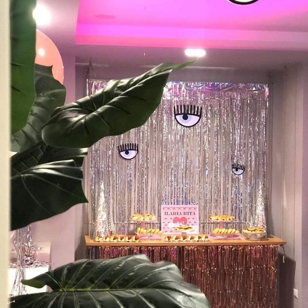Festa a tema Chiara Ferragni: un party da Vip ricco di luci, colori e musica.